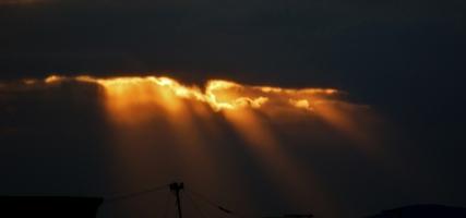 Трещина в грозовом облаке
