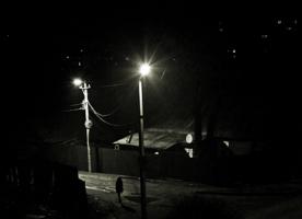 Ночь,девушка,фонарь...