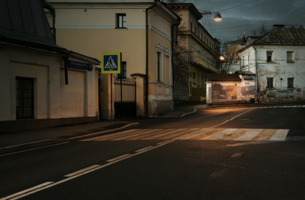 В безлюдном тихом переулке