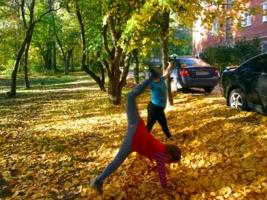 Осенняя акробатика
