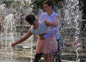 Лето, фонтан и любовь