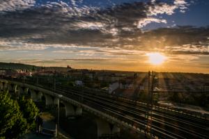Прага в лучах заката