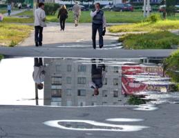 зеркало на дороге