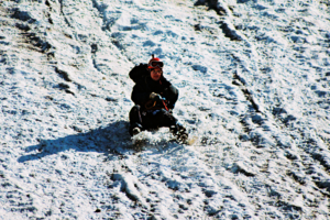 Спуск на альпенштоке
