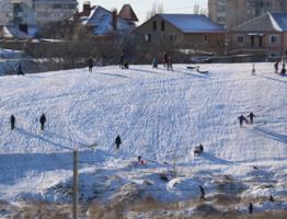 Редкий и долгожданный снег