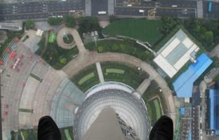 С высоты шанхайской телебашни