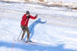 Тень лыжника