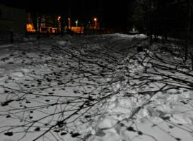 Контрасты зимнего вечера