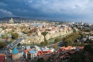 Тбилиси. Вид с горы.