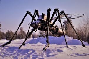Памятник комару.
