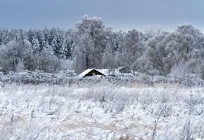 ... жила зима в избушке...