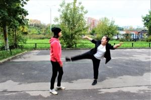 балет на улице)))