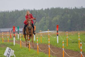 В красном и на коне