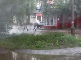 Убегающий от дождя