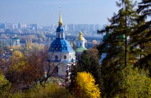 Купола Выдубицкого монастыря