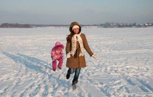 Зимний пейзаж на Волге.