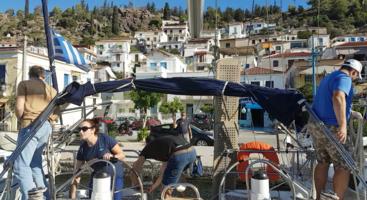 Швартовка яхты