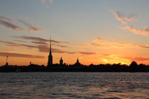 закат на Неве