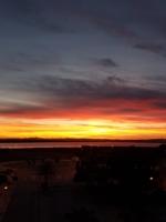 Огненный испанский закат