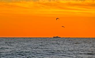 Закат в оранжевых тонах...
