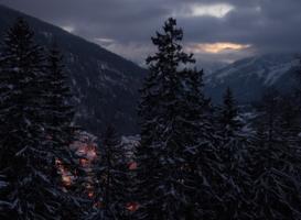 Вечер где-то в Альпах