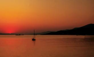 Закат в Цемеской бухте