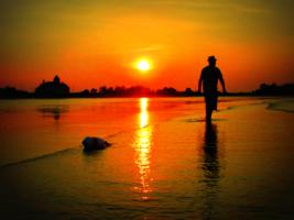 Тихий вечер на закате дня