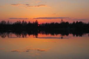Танка о весеннем закате