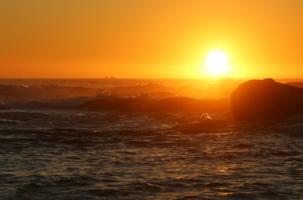 В свете заходящего солнца