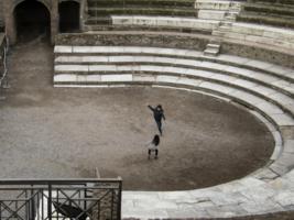 Старый амфитеатр и новые гладиаторы:)