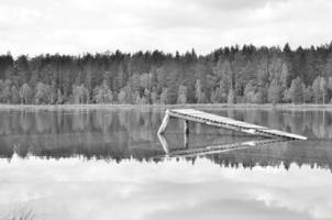 Старый серый мосток... Изжил себя.