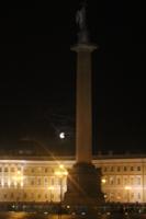 Александровская колонна. Ночь на Дворцовой.