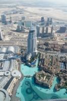 Дубай с высоты башни Бурдж-Халифа