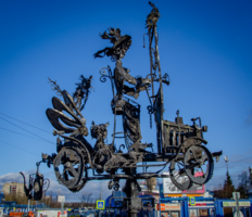 У вокзала города Чехова