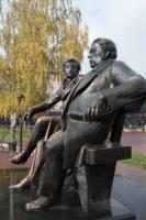 Памятник Пушкину и Крылову