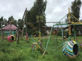 Кольца на детской площадке