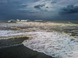Черное море. Сочи. Шторм-1.