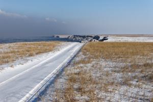 Белая дорога к белым скалам