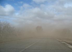 Ветер играет песком.