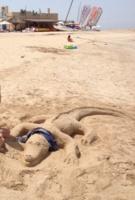 Песочный крокодильчик 🐊