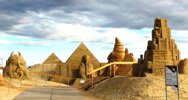 Выставка песочных скульптур.