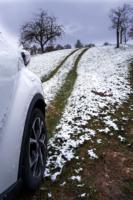 Сбор снега  в Германии апрельским утром 2021 года