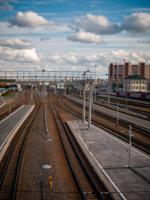 Облака над железной дорогой
