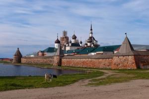 Утро у Соловецкого монастыря