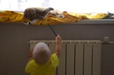 Киса, пойдем мышку нарисуем