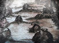 Река, скалы, берега