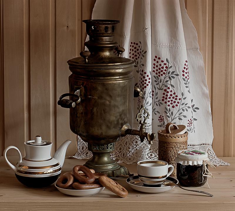 Чаепитие с самоваром картинки