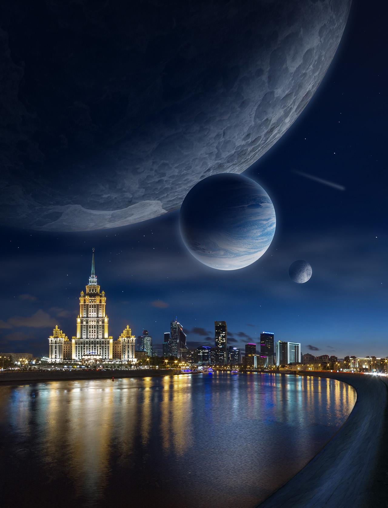 картинки космос как город