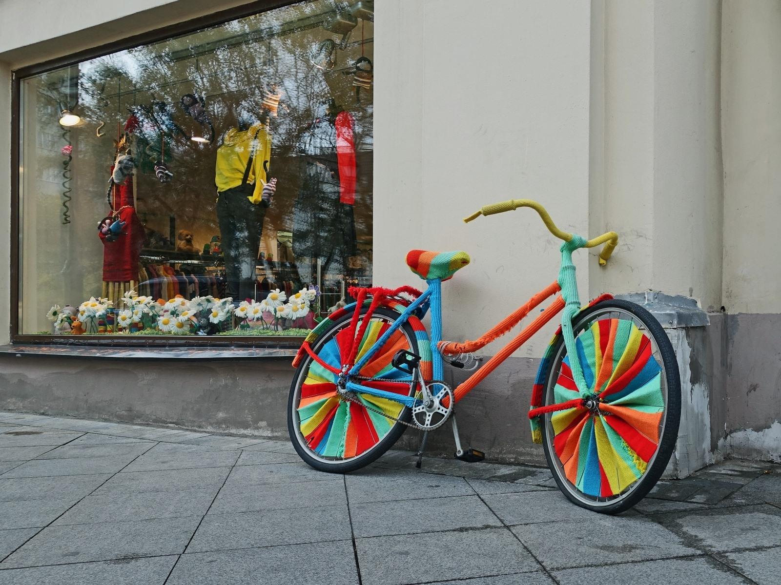 несложившиеся украшенный велосипед картинки крупный