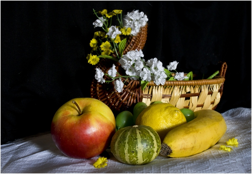 Картинки натюрморт с фруктами и овощами